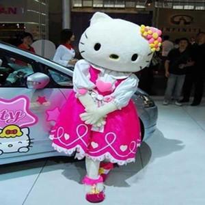 2018 Descuento de venta de fábrica traje de dibujos animados traje de mascota de hello kitty cat, traje de personaje de Hello Kitty Cat trajes tamaño adulto.