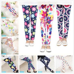 18 Stili Long Girls Leggings Stampa floreale Pantaloni sportivi elastici Chinlren Skinny Tights Slim Pantaloni lunghi Neonate Abbigliamento Abbigliamento per bambini
