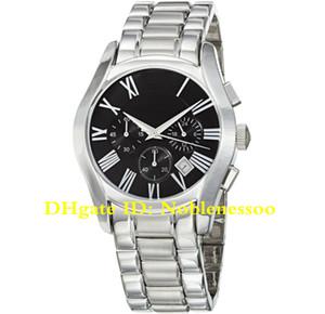 Часы 16 топ роскошный стиль AR0673 мужская черный циферблат Кварцевый хронограф часы из нержавеющей стали браслет AR1440 AR2448 AR5867 AR5905 мужские