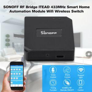 Original itead Sonoff RF Bridge 433MHz módulo de automatización del hogar inteligente Wifi Switch temporizador universal Diy 433Mhz APP inalámbrico controlador remoto