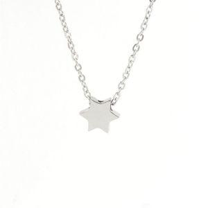 Нержавеющая сталь зеркало полированная Звезда Давида кулон ожерелье минимализм Collier Femme мода еврейский 45 см 5 шт. / лот