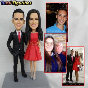 Turui figuritas mr y señora topper cake love topper cake resina miniatura fantasía wedding topper figura feliz cumpleaños miniatura muñeca