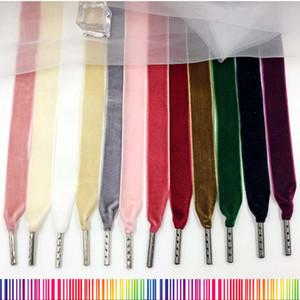 120 CM / 47 inç Kadife Shoestrings Yeni Varış High-end Rahat Ayakkabılar Için 10 Renkler Düz Unisex Shoestrings Çizmeler