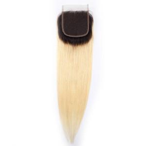 Remy Droite Fermeture Top Droite Fermetures de Cheveux Humains Partie Libre 4x4 Cheveux Vierges Brésiliens Swiss Lace Closure Piece T1b