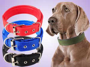 الياقة نايلون كلب دائم قابل للتعديل لينة الحيوانات الأليفة نايلون جرو الكلب القطة الياقة مع إبزيم الكلب الرصاص المقود التدريب الياقة الشريط ترويج