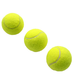 Training standard tennis ball rubber good bounce 1.3 meters durable tennis playing official ball neon yellow sport ball no logo