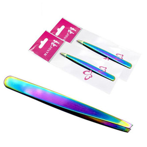 Outils de sourcil Diagonal En Acier Inoxydable Coloré Titanium Maquillage Accessoires Filles Beauté Garniture Sourcils Spécialisé Hot LJJN56