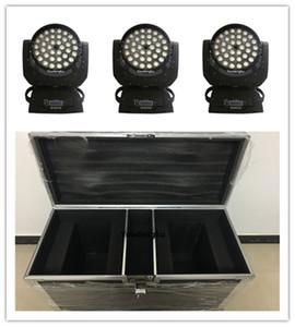Flightcase 36x15w 5in1 led yakınlaştırma taşıyıcı hareketli kafa led yıkama rgbwa hareketli zoom kafa ile 4 adet