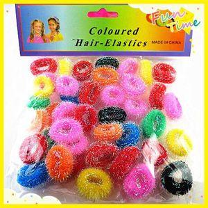45pcs / lot enfant coloré détenteurs de cheveux enfants bandes de caoutchouc mignons élastiques de cheveux accessoires charmes belle fille cravate gomme