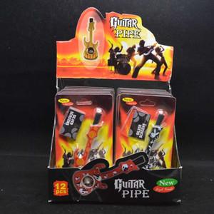 디스플레이 박스 액세서리 도구로 금속 메쉬 여러 색상 파이프 손 담배 담배 파이프 흡연 바이올린 기타 모양