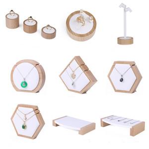 Jóias de madeira de luxo Exibir jóias Exibe boutique Counter Show Show Expositor Anel Anel Brinco Colar Pulseira Pulseira