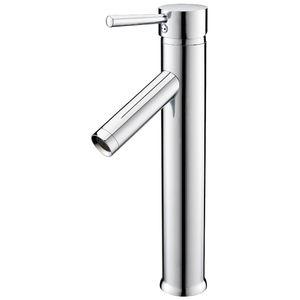 EWS- عالية واحدة ليفر مغسلة خلاط صنبور الحنفية مغسلة الموسعة للغاية واحدة ليفر خلاط كروم حمام الحمام ق