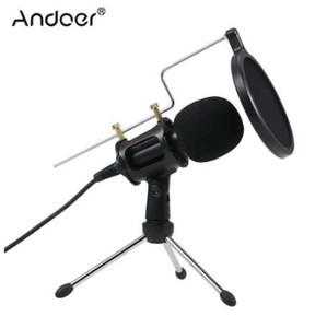 3.5mm Plug Microphone À Condensateur Mic Play Home Studio Podcast Enregistrement Vocal Microphones pour iPhone Ordinateur Portable PC Tablet Microphone