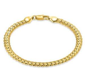 18 ك الذهب الرجل الأساور الذهب والفضة رابط طويل الأمد اللون الحفاظ على الحساسية أرخص رابط الذهب والمجوهرات 5mmx20cm 15