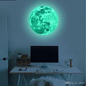 Paster rimovibile in PVC per soggiorno Adesivi decorativi fluorescenti novità Super bright moon Design piano Wall Sticker non tossici12lf ZZ