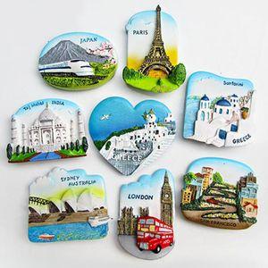 Magnete del frigorifero 3D in resina San Francisco Londra Parigi Giappone Grecia Sydney Bali Souvenir