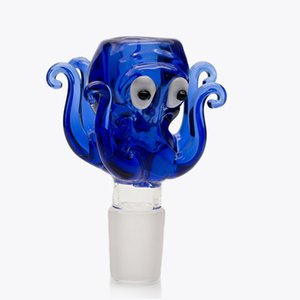 14mm 18mm Bowl Glass Octopus Style Thick Pyrex Glass Bowls with Colorful Blue Tobacco Herb Bowl Piece For Glass Water Bongs dab rigs