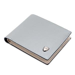 Titulaire de la carte de crédit pour hommes minces Mini portefeuille Les hommes simples en cuir PU ID Case Purse Sac Pochettes Les détenteurs de cartes