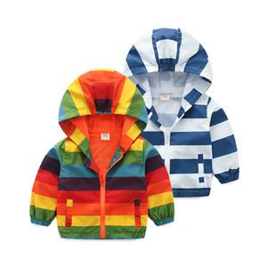 Mioigee casuais crianças jaquetas 2-6Y crianças arco-íris casacos casacos para meninos 2018 primavera outono bebê casacos blusas outerwears