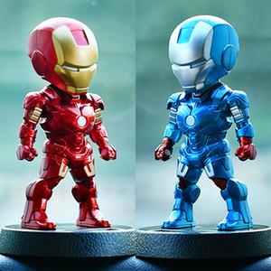 Ornamento del coche Tablero de instrumentos Iron Man Robot Shake Head Muñeca de juguete Nodding Asiente Bobblehead Ornamentos del coche Decoraciones de automóviles