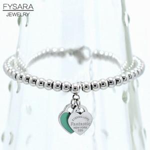 FYSARA EWIGE LIEBES Armbänder Double Heart Ball wulstigen Armband für Frauen Paar, Grün, Rosa Charm Bracelets