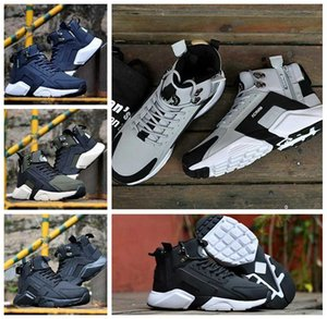 Vente pas cher Air Huarache 6 X Acronyme Ville MID en cuir High Top Huaraches Chaussures de course Hommes Femmes Chaussures Hurache Zapatos Taille 7-11