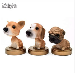 Balight Araba Süs Sallayarak Köpek Sallayan Köpek Araba Styling Için Sevimli Bobblehead Köpek Bebek Sallar Kafa Araba Iç Dekorasyon