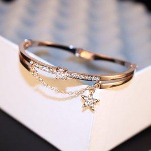Superbe Interweave Crystal Stars Jour Coréen Han Jianyue Personnalité Doux Ornements Bracelet Bracelet Femme Protéger Couleur