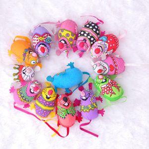 Nova venda de alta qualidade brinquedos para gatos coloridos forma de rato engraçadinho Crianças Lona Brinquedos Pet Suprimentos T3I0067