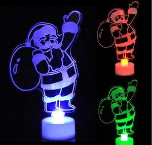 Akrilik LED Noel Ağacı Renkli LED Noel Baba Aydınlatma Yanıp Sönen Parti Noel Holloween Festivali Dekorasyon Hediye oyuncaklar 15 * 88 CM HQ037