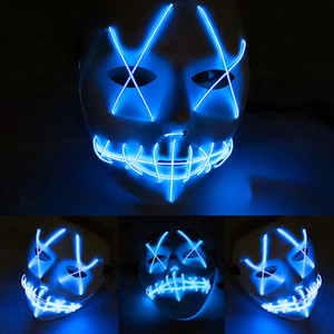 Stitching Bocca Fork eye Led Mask Decorazione di Halloween Decor Terror Face Masquerade Scary Carnival Grimace Celebration Activity