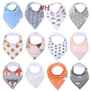 Baby INS Fox Bibs Burp Cloths 132 Designs Bandana Infant Saliva Cloth INS Triangle Bibs Newborn Cartoon Baby Bibs Newborn Burp Cloths