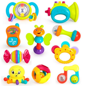 Hot Sale Safe Baby Toys Animal Hand Bells Baby Rattle Ring Bell Toy Newborn Infant Early Educational Doll Gifts brinquedos