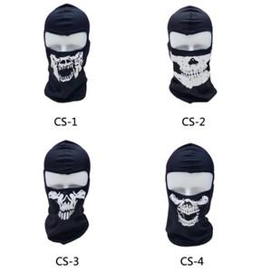 Halloween Ghost Skull mask Full Face skull hoods Motorcycle Biker Balaclava Breathing Dustproof Windproof masks Skiing sport mask hood