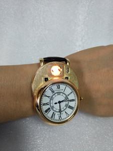 Relojes de hombre Relojes de encendedor Reloj de cuarzo Carga USB Roma Digital reemplazar cable de calefacción Sin llama Reloj de encendedor de cigarrillos JH358-2