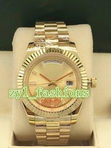 El reloj de los hombres de lujo superventas del mundo Reloj de pulsera de los hombres automotrices del calendario doble del acero inoxidable dorado de alta calidad