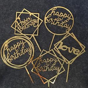 Joyeux anniversaire amour gâteau Topper acrylique décoration de fête d'anniversaire fournitures