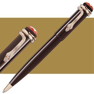 Novo tamanho da caneta única Coleção Património Resina vermelho escuro Canetas Esferográficas Edição Especial de segunda-feira marca rollerball canetas Snake clip caneta presente