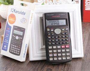 Handheld Calculadora Científica Estudantil 2 Linha Display 82MS Calculadora Multifuncional Portátil para Ensino de Matemática