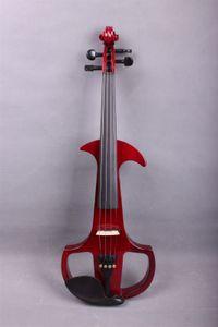 Nouveau 4/4 Electrique Violin ebony peg Silent Pickup Puissant Sound Rouge 4 cordes Nice