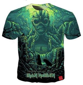Toptan-Yeni Moda Erkek / Bayan Yaz Tarzı Demir Kızlık Komik 3D Baskı Rahat T-Shirt DXx00106
