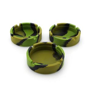 Nuevos Ceniceros de Silicona Coloridos Circular Durable Durable Diseño Innovador Fácil de Limpiar Accesorios para Pipa de Fumar de Alta Calidad