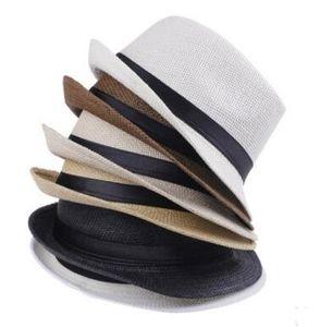 Мода Мужчины Женщины Соломенные Шляпы Мягкие Fedora Панама Шляпы Открытый Скупой Brim Caps Джаз Соломенная Шляпа Открытый Sun Hat 7 Цветов Выбрать
