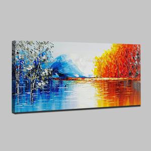 Mintura À La Main Moderne Abstrait Paysage Peinture À L'huile Sur Toile Mur Art Photos Pour Live Room Home Decor Peintures Unframe Y18102209