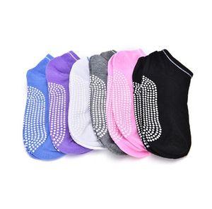 Calze yoga antiscivolo massaggio caviglia donne pilates fitness colorato punta durevole danza grip esercizio stampato palestra danza calzini sportivi FFA018
