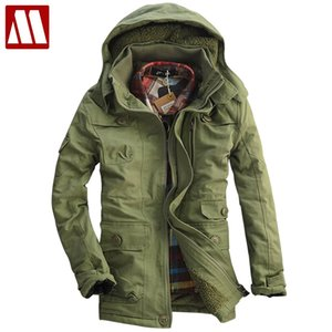Hot Style Men's Winter Coat Mens coon-padded Outerwear Warm thick Fleece Jacket Coon faux lambs wool overcoat Big size S-5XL