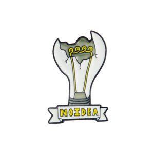 Новая мода Смешные Сломанный Лампочка NOIDEA Брошки штыри для женщин мужчин Рюкзак Hat Badge Жесткий Эмаль Broche Оптовая лацкан корабль падения