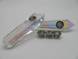 Atacado Natural titânio anjo aura ponto de cristal de quartzo cachimbos varinha tubo de fumaça moderna para venda
