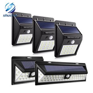 12/16/20/24/54 LEDs LED Güneş Enerjisi PIR Hareket Sensörü Duvar Işık Açık Su Geçirmez Enerji Tasarrufu Sokak Bahçe Güvenlik Lambası