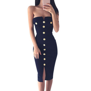 CHAMSGEND Womens Sexy Bodycon Pencil Ladies Party Dress Drop Shipping 4F11